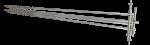 Комплект штырей заземления винтовых из нержавеющей стали РАПМ.305177.002 - 1 м. 4шт. с сумкой